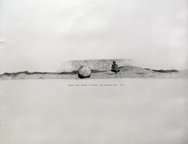 Neha Choksi Pressure Sphere Recovered in South Africa/ Space Debris series detail, pencil on paper Size: 23.75 x 18 inches 2001-2002