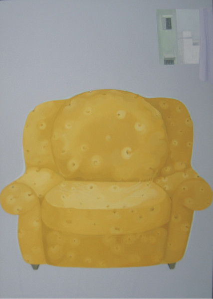 """""""The Couch Potato"""" by Prajakta Potnis, Acrylic on Canvas, 72 x 48 inches, 2006"""