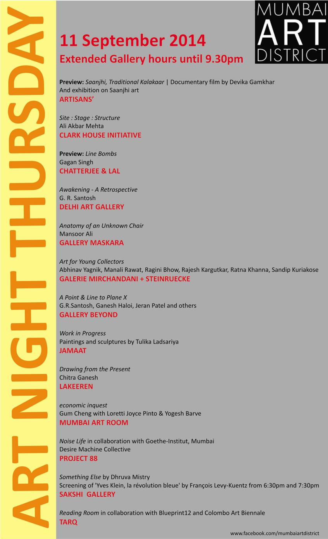 Art Night Thursday Details