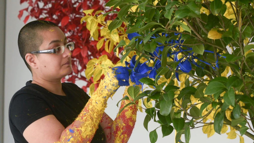 Neha Choksi, In Leaf (Primary Time) (2015)  Live performance for Hayward Gallery.
