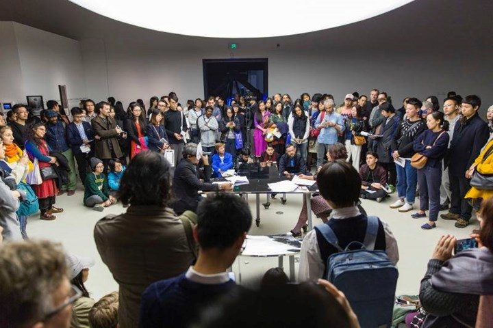 Einstein and Bergson in Three Acts: On Physics and Philosophy (Act I: The Debate). Text by Jimena Canales and read by Raqs Media Collective for the first Theory Opera program of the 11th Shanghai Biennale (12 November 2016–12 March 2017), November, 2016. Courtesy the author.