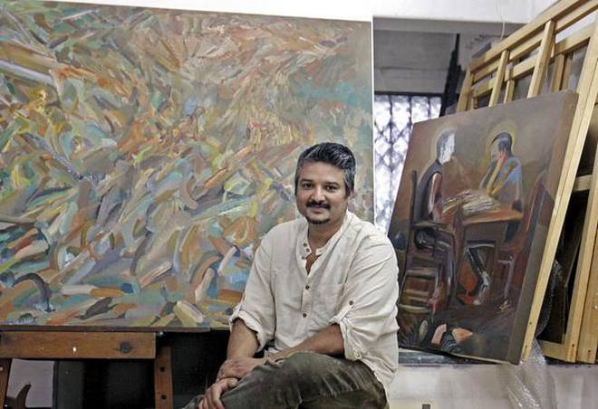 Artist Amitesh Srivastav uses abstraction in his latest solo show.