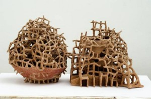 "Khageswar Rout, ""Study of Nothing, iii,"" Terracotta, 26 x 19 x 16 inches, 2016"