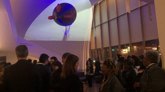 """The Institute for Contemporary Art hosted their opening reception for """"The Otolith Group: Xenogenesis"""" on Friday. Photo by Aaron Royce"""